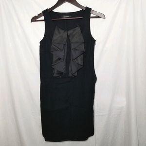 CLUB MONACO wool dress w silky ruffles sleeveless
